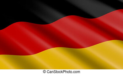 Flag of Germany (seamless loop)