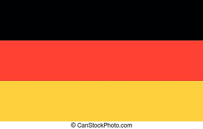 Flag of Germany. Vector flag with official colors and correct proportion.