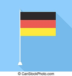 Flag of Germany . Vector illustration.