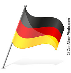 flag of Germany vector illustration