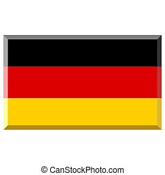Flag of Germany with 3D border