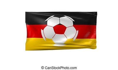 Flag of Germany with a soccer ball