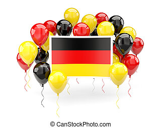 Flag of germany with balloons