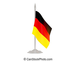 Flag of germany with flagpole. 3d render