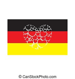 Flag of Germany with heart.
