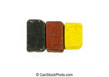 Flag of Germany with wax crayon