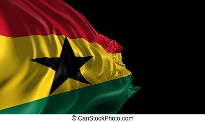 Flag of Ghana - Beautiful 3d animation of Ghana flag with...