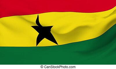 Flag of Ghana - Flag of the Ghana waving in the wind....