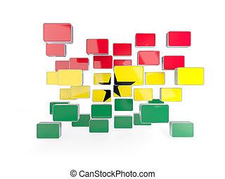 Flag of ghana, mosaic background