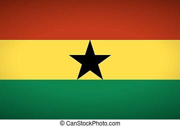 Flag of Ghana. Vector illustration.