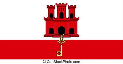 flag of Gibraltar, close up
