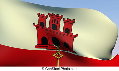 Flag of Gibraltar - Flags of the world collection -...
