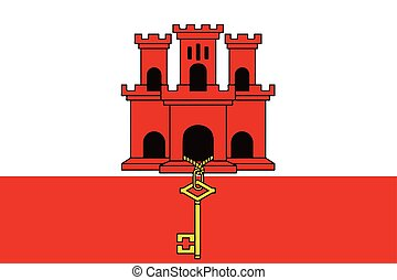 Flag of Gibraltar. Vector Format