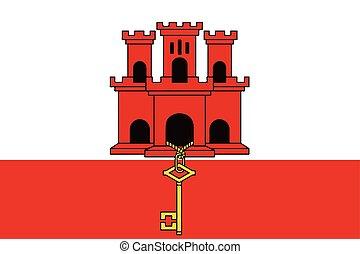 Flag of Gibraltar. Vector Format