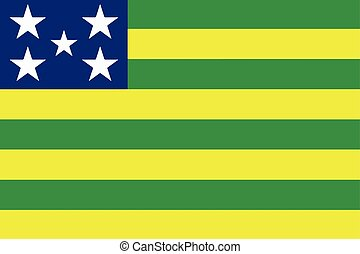 Flag of Goias State, Brazil. Vector Format
