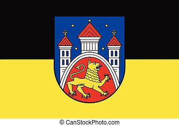 Flag of Gottingen, Germany. Vector Format.