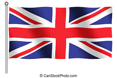 Flag of Great Britain - Computer Generated flag of Great...