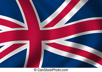 Flag of Great Britain waving in the wind