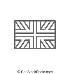 Flag of Great Britain, England line icon.