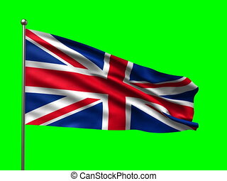 flag of Great Britain loop-able 3d animation