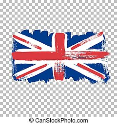 Flag of Great Britain on an empty background.