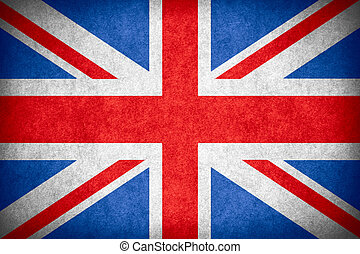 flag of Great Britain or British national banner on paper...