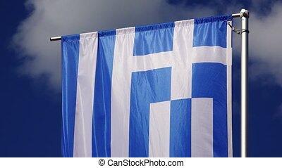 Flag Of Greece. 4K.