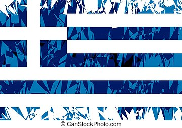Flag of Greece.