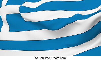 Flag of Greece - Flag of the Greece waving in the wind....