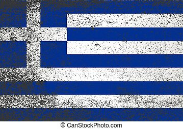 Flag of Greece Grunge