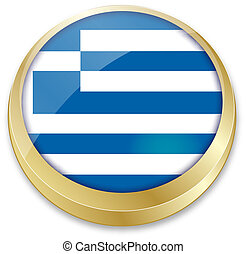 flag of greece in button shape