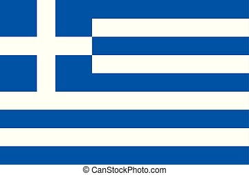 Flag of Greece in official rate and colors, vector