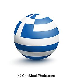 Flag of Greece in the form of a ball