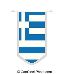 Flag of Greece on a banner