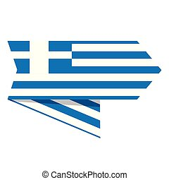 Flag of Greece on a label