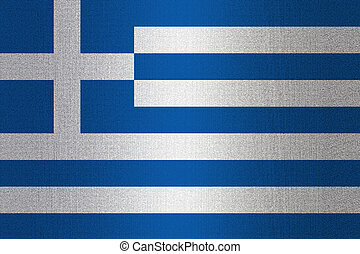 Flag of Greece on stone