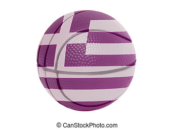 Flag of Greece on volleyball ball