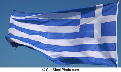 Flag of Greece -  Seamless loop