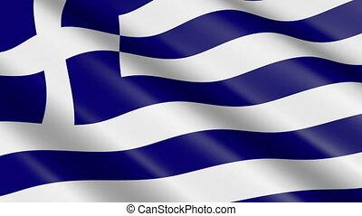 Flag of Greece (seamless loop)