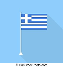 Flag of Greece. Vector illustration .