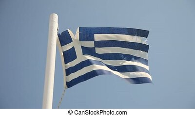 Flag of Greece - video footage of the grecian flag
