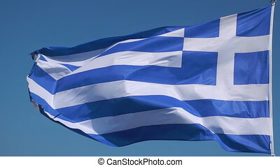 Waving greek flag - Flag of Greece - Waving greek flag...