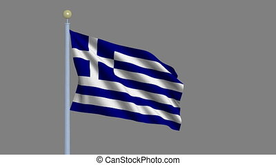 Flag of Greece with alpha matte