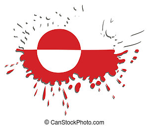 Flag of Greenland as spot