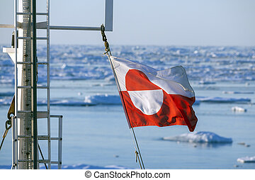 Flag of Greenland - Ships Mast