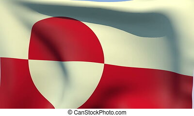 Flag of Greenland - Flags of the world collection -...