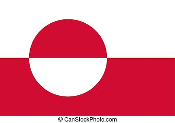 Flag of Greenland. Vector illustration. World flag