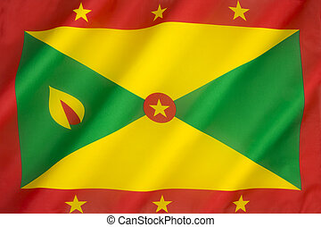 The national flag of Grenada was adopted on independence from the United Kingdom on the 7th February 1974.