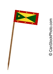 Tooth pick wit a small paper flag of Grenada