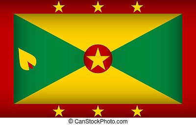 Flag of Grenada. Vector illustration.